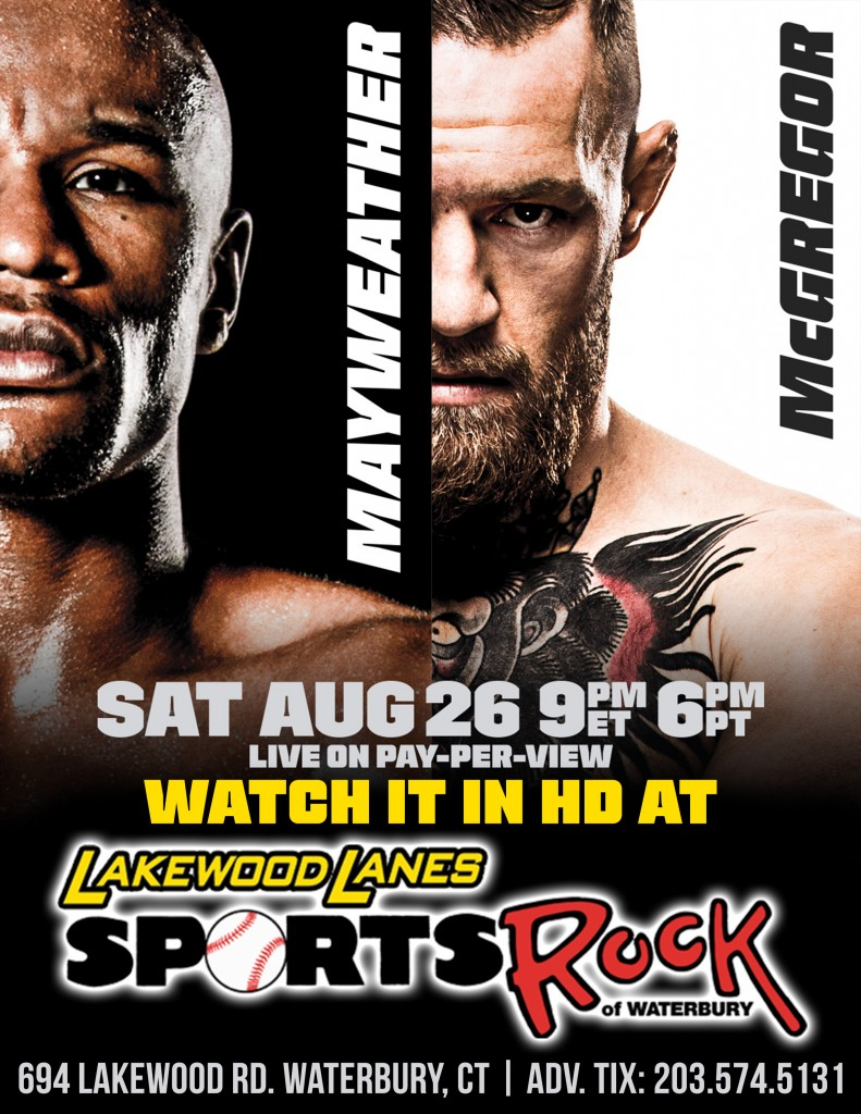 Mayweather vs. McGregor Fight @ Sports Rock | Waterbury | Connecticut | United States